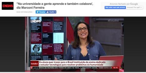 Entrevista de Marconi Pereira no Estudio i da Globonews